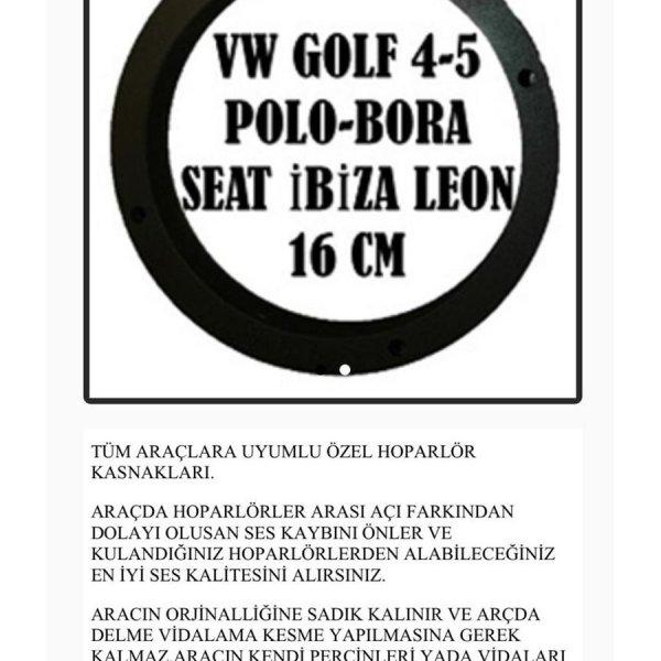 VOLKSWAGEN GOLF 4-5 POLO-BORA-SEAT-İBİZA LEON 16CM OEM HOPARLÖR KASNAK