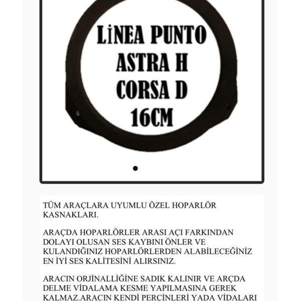 LİNEA PUNTO ASTRA H CORSA D 16CM OEM HOPARLÖR KASNAK